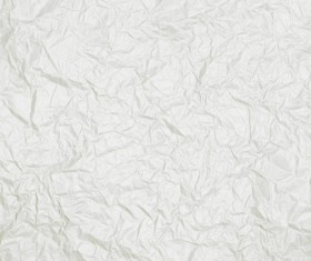 Brightly wrinkled white paper texture background