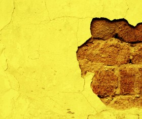 Broken yellow wall texture HD picture