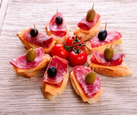 Canape with tomatoes