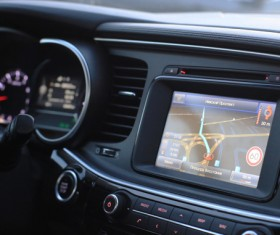 Car GPS navigation features Stock Photo
