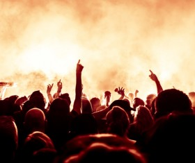 Cheering crowd at a rock concert HD picture 03