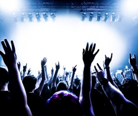 Cheering crowd at a rock concert HD picture 06