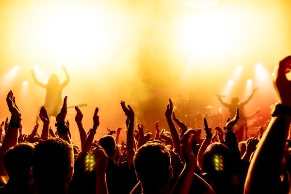 Cheering crowd at a rock concert HD picture 07 free download