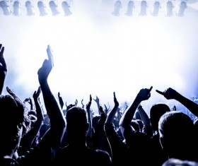 Cheering crowd at a rock concert HD picture 08