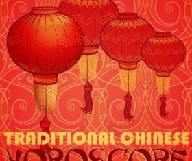 Chinese 2017 New Year red background vector 08