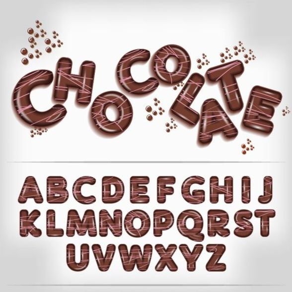 Chocolate Letters Fonts Vector