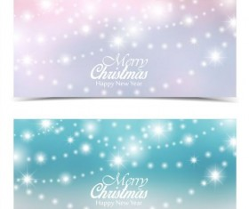 Christmas lamp shiny banners vector