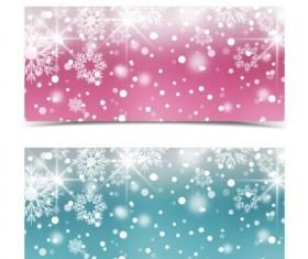 Christmas snowflake shiny banners vector