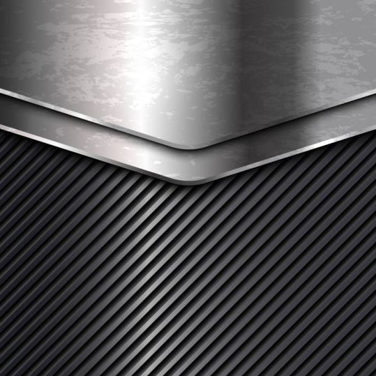 Chrome Steel With Black Metal Vector Background Free Download