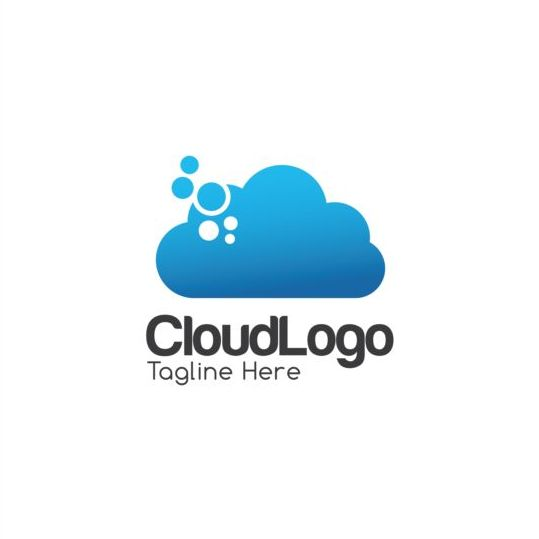 cloud logo creative design vector 04 free download