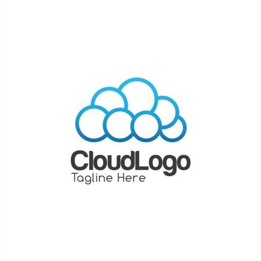 Cloud logo creative design vector 05