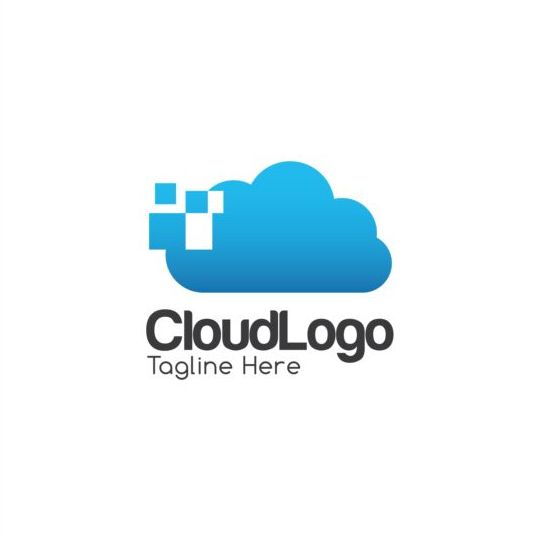 Cloud logo creative design vector 06