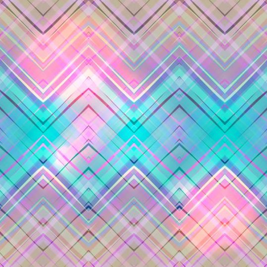Colored zigzag pattern shiny vector 13
