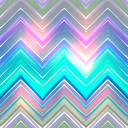 Colored Zigzag Pattern Shiny Vector 16