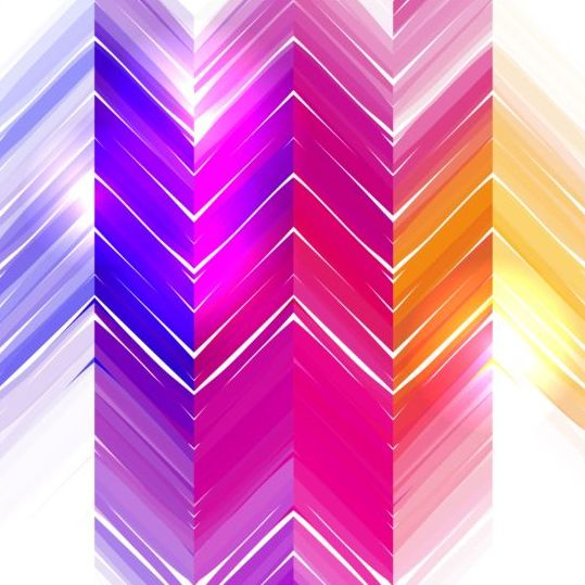 Colored zigzag pattern shiny vector 17