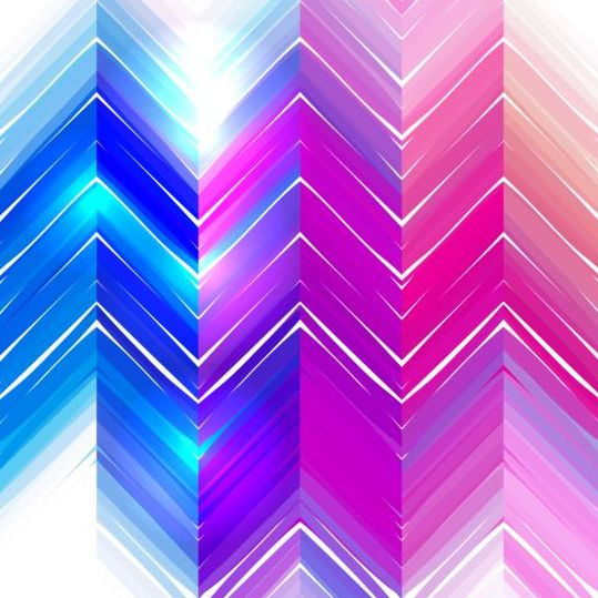 Colored zigzag pattern shiny vector 18