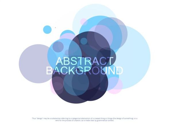 Colorful circles with abstract background vectors 01