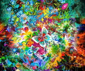 Colorful dazzling grunge background