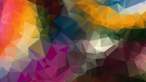 Colorful polygon geometric background shiny vector 06