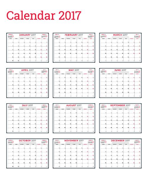 Free Wall Calendars 2017