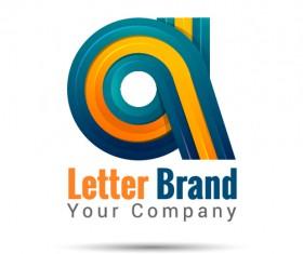 Creative letter brand logo design vector