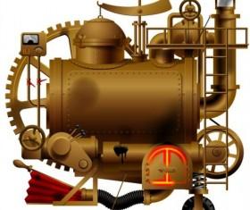 Creative machine design vector 01