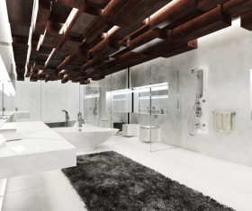 Creative modern luxurious interior bathroom HD picture 01
