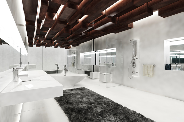 Creative modern luxurious interior bathroom hd picture 01 for Bathroom designs hd images