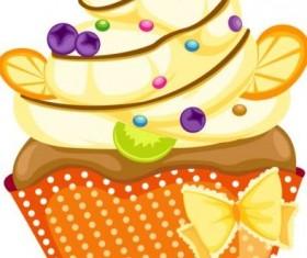 Cute fruit cake vectors