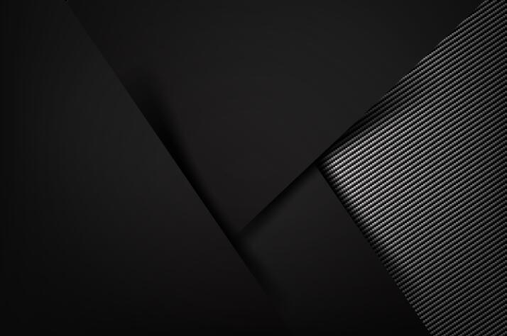 Dark with carbon fiber texture background vector 01