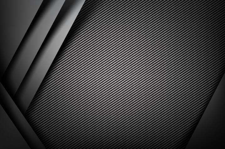 Dark with carbon fiber texture background vector 06