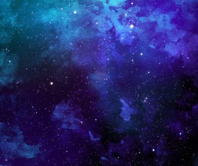 Deep Blue Space Watercolor Backgrounds Stock Photo