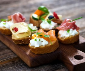 Delicious French Dim Sum-Canape Stock Photo