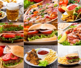 Delicious and delicious all-you-can-eat hamburger Stock Photo