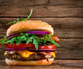 Delicious beef burger Stock Photo