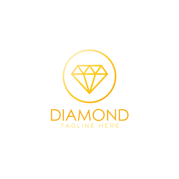 Diamond logo design vector set 02