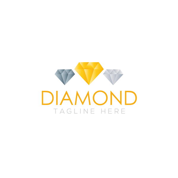 Diamond logo design vector set 03