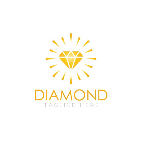 Diamond logo design vector set 07