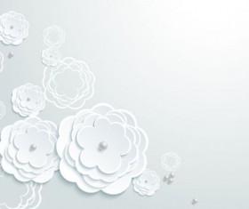 Elegant paper flower vector material 03