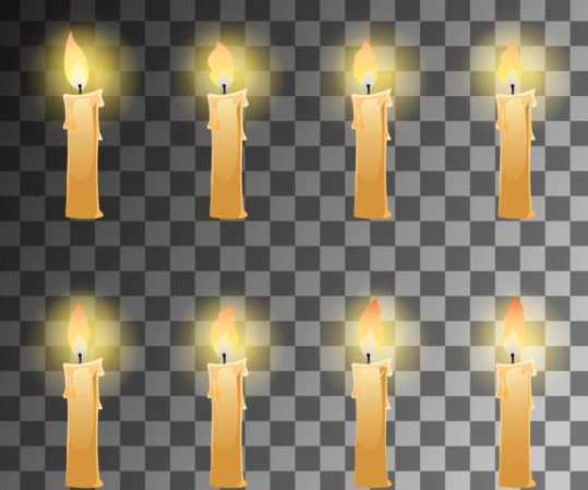 Fire candle illustration vector
