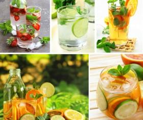 Fresh fruit juice portfolio Stock Photo