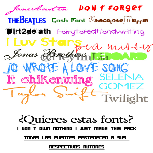 Download Funny fonts pack free download