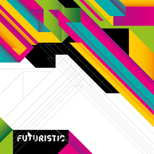 Futuristic concept backgrounds vector 07