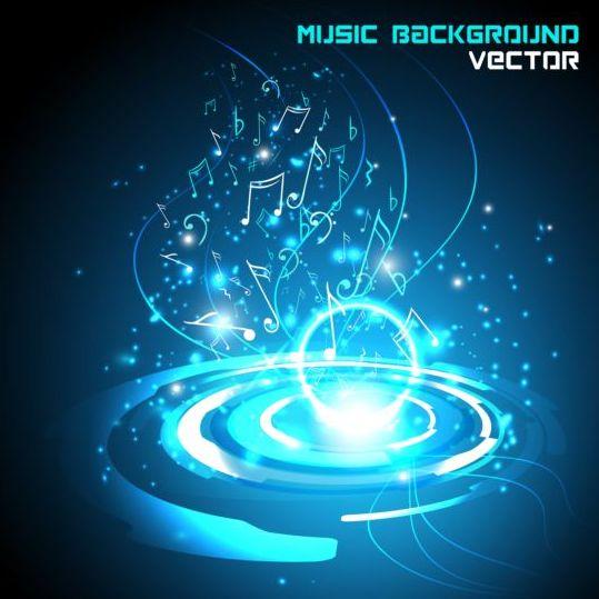 Futuristic Music Background Design Vector 04 Vector