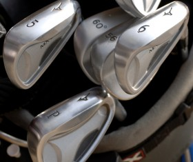 Golf clubs Stock Photo 02