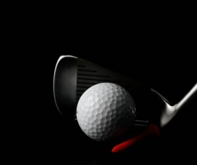 Golf with clubs and black background Stock Photo 01