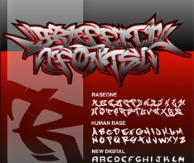 Graffiti Fonts set