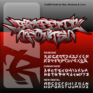 Graffiti Fonts set