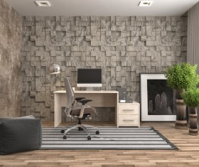 Gray Office HD picture