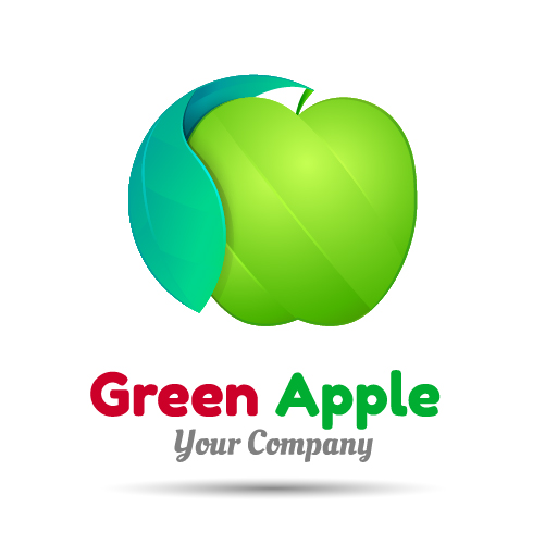 official apple logo vector. green apple logo design vector official